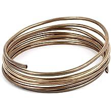 """sourcingmap® Congelador 3.0mm Dia tono de cobre de refrigeración en espiral del tubo 70 """"largo"""