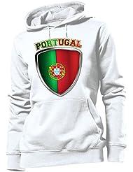 FOOTBALL WORLD CUP - EUROPEAN CHAMPIONSHIP - PORTUGAL FAN HOODIE Femme Sweats à capuche Small - X-Large