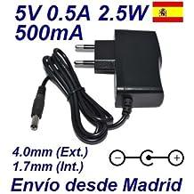 Cargador Corriente 5V 0.5A 500mA 4.0mm 1.7mm 2.5W