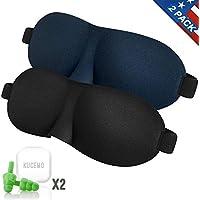 Schlafmaske 2er Pack mit 2–kein Druck Geräuschunterdrückung leicht & bequem Eye Masken Augenbinde für Reisen... preisvergleich bei billige-tabletten.eu