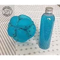 KIT neonati e bambini Montessori, 2 regali per neonati, fiala di calma, pallina per bambini stile Montessori, TONES TURQUOISE