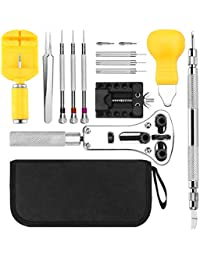 Fypo Watch Repair Tool Kit, Watch Link/Back Case/Pin Removal Kit, Watch Battery Replacement, Watch Maintenance Tools