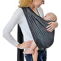 Écharpe de portage avec anneau d ajustement - Porte-bébé ventral ou dorsal  de 8003dd4d282