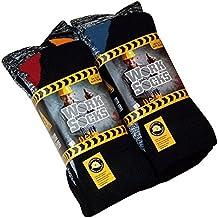 Lot de 12 Paires de chaussettes de travail ultra résistant-Bottes de sécurité-Chaussettes-Excellente qualité-chaleur et confort assurés Taille 39-46 Noir