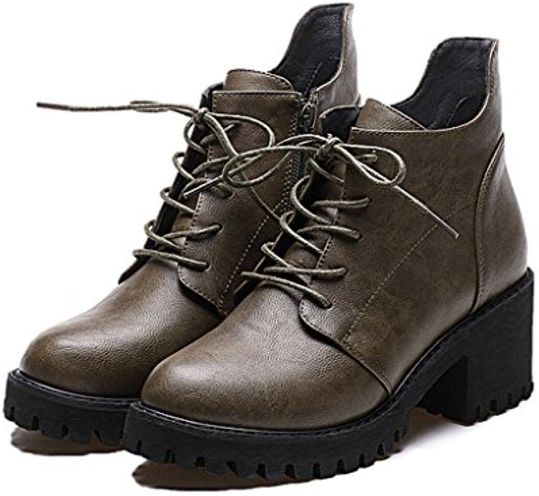 Women's Martin bottes bottes à l'arrière ( Couleur : : Couleur B , taille : US:5.5\UK:4.5\EUR:36 ) 345623