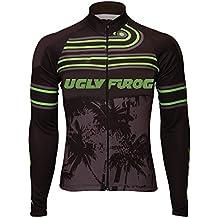 Uglyfrog #41 Ciclismo Hombres Manga larga Winter with Fleece Maillots de Bicicleta de Ropa de Ciclo Jersey de manga corta