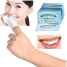 Dientes toallitas 50 x toallitas húmedas de blanqueamiento dental aliento fresco dedo dientes Cepillo UPS para