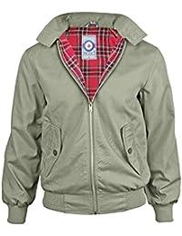 Hombres Gensen Clásico Retro Harrington Jacket Mod Nuevo Escudo