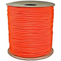 1000' Foot Spool Neon Orange Parachute Cord 7-Strand Core 550 Cord by PARACORD PLANET