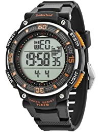 Timberland Men's Digital Watch with LCD Dial Digital Display and Black Plastic or PU Strap TBL.13554JPB/04