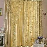 Transmitancia de luz inelástica círculo de impresión en offset impresión proyección de ventana de cortinas de tul de poliéster organdí persianas verticales, 100 * 200cm, 1 panel , meters yellow