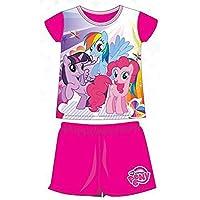 My Little Pony Pijamas de Verano 2 Piezas de Camiseta y Culote Producto Oficial fucsia fucsia Talla:2 Anni - 92 cm