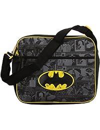 Kunstleder-Schultertasche mit Batman-Motiv