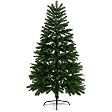 oneConcept Rothenburg albero di Natale abete natalizio artificiale (altezza 210 cm, 868 rami, scomponibile, aghi in polietilene, resistente alle