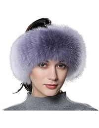 URSFUR elegante diadema cossak de piel auténtica estilo ruso invierno Earwarmer orejeras gorro de esquí, para mujer