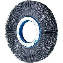 1 Face Width 2 Arbor Hole 80 Grit 10 Diameter 2 Arbor Hole 3-1//4 Trim Length 1 Face Width PFERD Inc. Silicon Carbide Grain 10 Diameter 3-1//4 Trim Length 3600 rpm PFERD 83745 M-BRAD Composite Radial Wheel Brush
