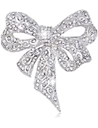 Ever Faith - Cristal Austriaco ArcoNudo Boda Broche Claro A05451-4