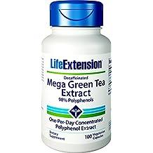 LifeExtension - Bote con 100 Cápsulas, Mega extracto de Té verde, sin cafeína