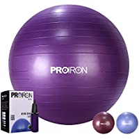 PROIRON Exercise Yoga Swiss Fitness Ball 65cm 75cm with Hand Pump Anti Burst for Home and Gym