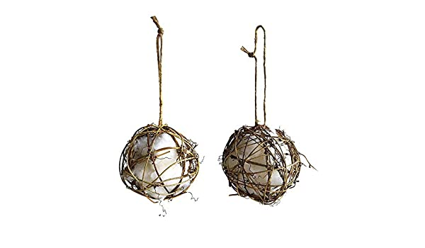 Ambears/&D Wild Bird Nest Helper Grapevine Globes with Pure Cotton for Hummingb..