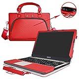 ASUS X541SA X541NA X541UA Housse,2 en 1 spécialement conçu Etui de protection en cuir PU + sac portable Sacoche pour 15.6' ASUS VivoBook Max X541SA X541UA X541NA ordinateur(NON compatible avec Asus X540/X542),Rouge