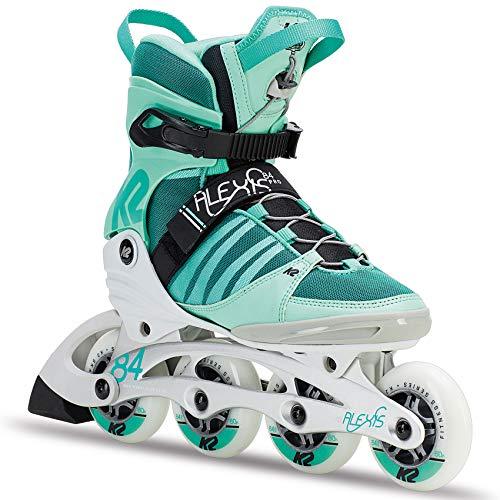K2 Damen Fitness Inline Skates Alexis 84 Pro - Weiß-Grün-Schwarz - EU: 39 (US: 8 - UK: 5.5) - 30C0114.1.1.080