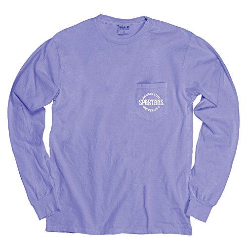 Blue 84 NCAA gefärbt ringgesponnene Longsleeve Tee mit Pocket, Unisex - Erwachsene, NCAA Dyed Ringspun Longsleeve Tee with Pocket, Periwinkle, X-Large - Ringspun-fußball-t-shirt