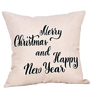 ADESHOP Christmas Pillow Covers, Xmas Gifts, Christmas Pillow Case Glitter Cotton Linen Sofa Throw Cushion Cover Home Decor 51v 2Byi8tLL