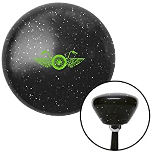 American Shifter 287358 Shift Knob (Green Motorcycle Handlebars Black Retro Metal Flake)