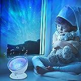 Ohuhu Nachtlicht, Ozean Projektor Fernsteuerung Nachtlicht Ozeanwellen Lichtprojektor 7 Farben mit eingebautem Lautsprecher