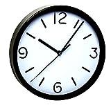 TFA Dostmann Analoge Wanduhr TFA 60.3033 mit geräuscharmem Uhrwerk (Schwarz)