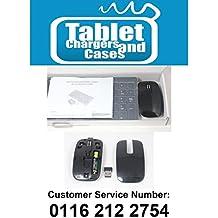 Negro Teclado inalámbrico + NUM Pad & Mouse Set para LG 55LA620V lg55la620V Smart TV