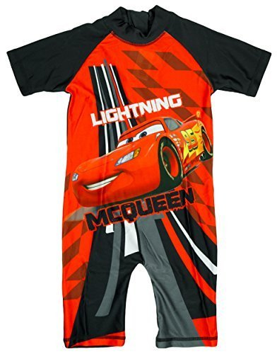Image of Boys Disney Pixar Cars Lightning McQueen Sunsafe Swimsuit Costume sizes from 1.5 to 5 Years