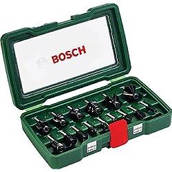 Bosch 2607019469 Coffret de 15 fraises au carbure Queue Ø 8 mm