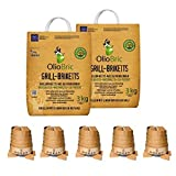 OlioBric Premium Bundle Olivenkern Grill-Briketts 6 kg, und MOKAN Grillanzünder 5 Stück