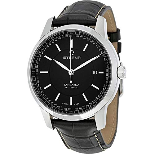 Eterna Men's 42mm Leather Band Steel Case Automatic Watch 2948-41-41-1261