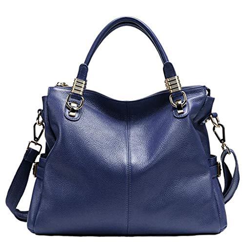 dy Handtaschen Schultertaschen Damen Large Tote Shopping Bags Klassische Wildlederhandtasche (Farbe : Blau, größe : One Size) ()