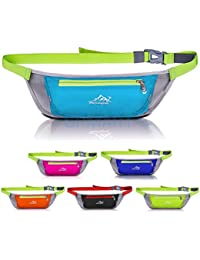 ELECTROPRIME Men Women Waterproof Pouch Waist Belt Pack Bum Bag Sport Running Fitness Bumbag
