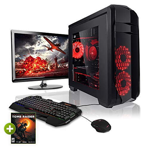 "Megaport Komplett PC Gaming PC AMD Ryzen 5 2600 • 24"" Monitor • Tastatur • Maus • Nvidia GeForce GTX1060 • 16GB DDR4 RAM • 240GB SSD • Windows 10 • WLAN Gamer pc Computer komplettpaket"