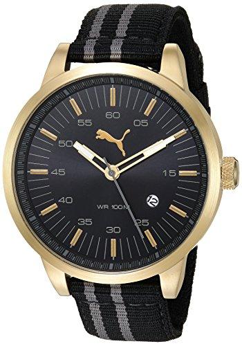 PUMA Reloj Analógico para Hombre de Cuarzo con Correa en Nailon PU103641009
