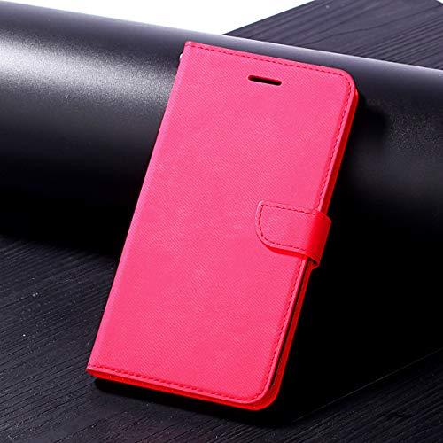 BWater Case für iPhone x: langlebige qualität Tuch Stoff prozess Schutz Karte lagerung flip pu Leder Brieftasche case Abdeckung mit kurzen Sling (Color : Rot) -