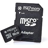 meZmory 16GB Micro SDHC Class 10 Speicherkarte mit SD Adapter und Schutzbox