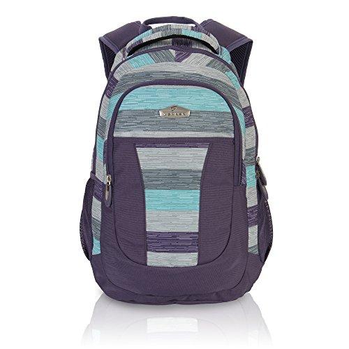 Imagen de veevan  escolar de gran compartimento de grafiti para los niños púrpura+rayas