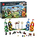 YK GAME Harry Potter-Quidditch-Match-Set Gryffindor Slyther Raven Crawford Und Hufflepach Tower Harry Potter-spielzeuggeschenke,A