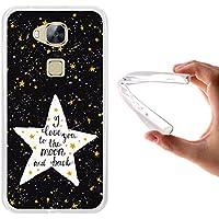 WoowCase - Funda Gel Flexible [ Huawei GX8 / G8 ] Estrellas Frase - I Love You To The Moon And Back Carcasa Case Silicona TPU Suave