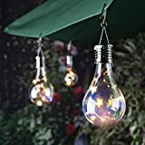 Gaddrt Solarlampe Wasserdichter Drehbarer Garten im Freien Camping Hängeleuchte Licht Outdoor (Farbe)