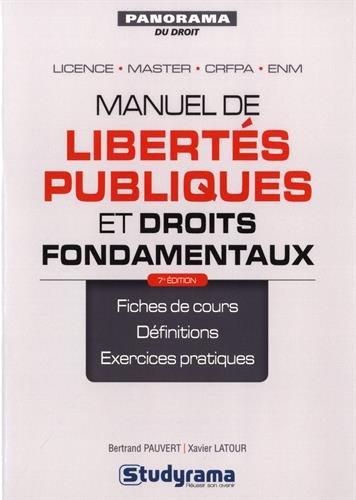Manuel de libertés publiques et droits fondamentaux par Bertrand Pauvert