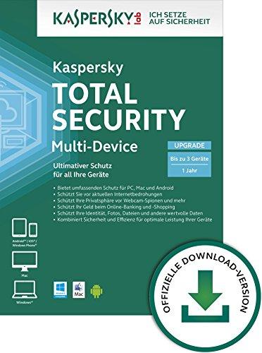 Kaspersky Total Security 2015 Multi-Device für bis zu 3 Geräte Upgrade