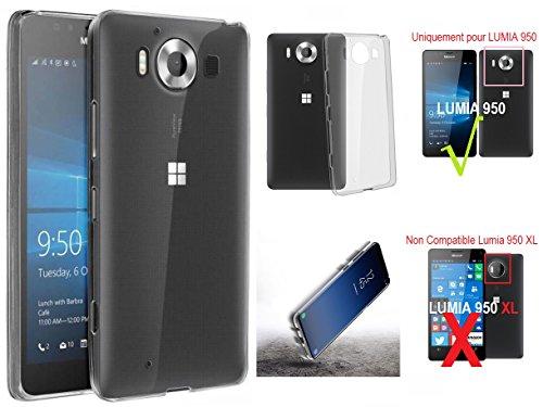 Ipomcase infrangibile custodia morbida in silicone trasparente per nokia lumia 950, microsoft lumia 950di attenzione (non compatibile con lumia 950xl)