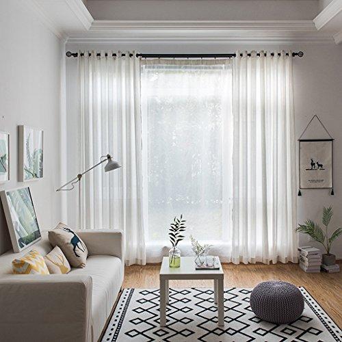 Vorhänge Met Love Einfacher und moderner Streifen Sortiert Breathable einfarbiges Grün-Streifen-Garn-Wohnzimmer-Hotel für 2 Platten aus (größe : L:2.0*H:2.7m) (Vorhänge Grüne Streifen)